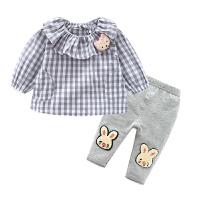 女童洋气套装婴儿衣服春装1岁3个月6宝宝打底裤春秋季长袖上衣T恤