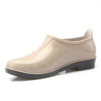 回力雨鞋女低帮短筒胶鞋浅口成人水靴防滑雨靴防水鞋厨房工作鞋子