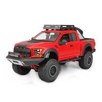 1:24福特猛禽F150汽车模型原厂仿真合金车模皮卡越野车模 红色 F150改装版