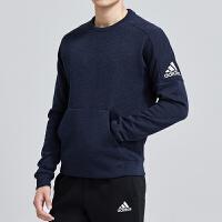 adidas阿迪达斯男服卫衣2019新款运圆领套头休闲运动服DU4415