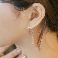 耳线短款 耳链女气质韩国简约时尚个性百搭饰品 潮人耳环耳饰