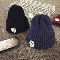 儿童毛线帽冬天针织套头帽宝宝帽子1-2岁男童护耳帽女保暖秋婴儿