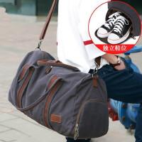 男士帆布手提旅行包休闲运动鞋位健身包单肩斜挎包大容量行李包袋 支持礼品卡支付