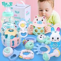 宝宝牙胶摇铃0-3-4-6-8-12个月0-1-3岁男孩女孩玩具婴儿