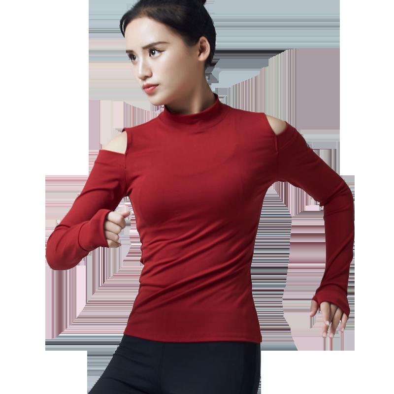 秋冬季瑜伽服上衣女长袖健身房专业运动跑步健身服女速干衣女韩版 发货周期:一般在付款后2-90天左右发货,具体发货时间请以与客服协商的时间为准