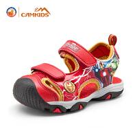【每满200减100,买就送价值28元的彩笔】CAMKIDS男童凉鞋漫威系列儿童包头凉鞋童鞋夏季新款宝宝透气沙滩鞋