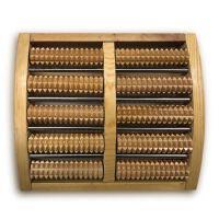 实木质家用脚底按摩器足部穴位按摩垫滚轮脚部足疗器足底木制搓排 钢5排实木脚按摩