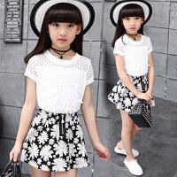 儿童裙子两件套夏季短袖中大童休闲套装童装夏装女童套装