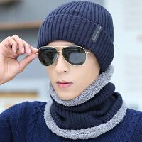 帽子男冬季户外青年针织帽骑行潮毛线帽子护耳围脖脖套帽