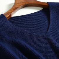 秋冬新款羊绒衫女V领套头针织衫时尚保暖毛衣女打底外套