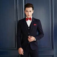 西服套装男春秋季三件套商务正装韩版潮流修身帅气小西装青年外套