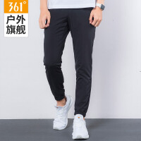 361度2018春季新款男子轻便梭织裤361冬季轻薄运动长裤透气运动裤