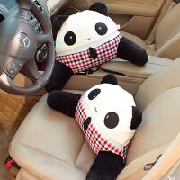 可爱熊猫先生车饰腰靠护腰枕卡通椅子腰靠靠垫 汽车用品内饰