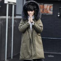 冬装棉衣男外套韩版大毛领中长款加厚