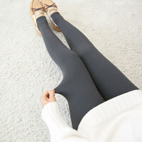 秋冬加绒加厚打底裤外穿修身竖踩脚裤女保暖裤瘦腿显瘦压力黑 均码