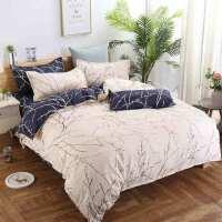 四件套磨毛被套床单床品套件小清新植物羊绒加厚斜纹
