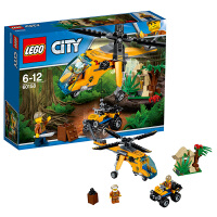 LEGO乐高城市系列 丛林运输直升机60158
