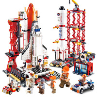 儿童男孩火箭模型太空礼物积木玩具 6-10岁拼装航天积木飞机