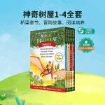 Magic Tree House 神奇树屋1-4本盒装 青少年课外读物 英文原版小说 章节书Dinosaurs Bef