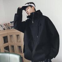 2018秋季新款外套男韩版潮流修身帅气连帽男潮牌夹克港风男棉秋新款青少年套头