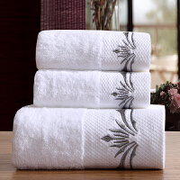 五星级酒店宾馆毛巾浴巾三件套毛巾礼盒套装定制绣花LOGO