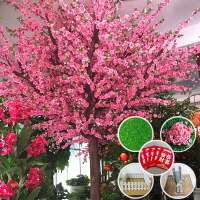 仿真植物树假桃花树榕树樱花树腊梅树许愿树大堂酒店商场摆设装饰