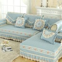欧式沙发垫布艺现代简约沙发套防滑垫皮沙发巾罩坐垫四季通用全盖