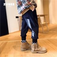 【2件2折】左西男童加绒裤儿童灯芯绒加厚运动裤中大童冬2020新款