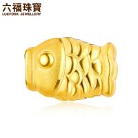 六福珠宝吉祥有鱼黄金转运珠女足金串珠手绳*定价L11A1TBP0001