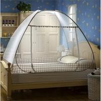 蚊帐蒙古包免安装单人床上铺下铺学生支架宿舍上下床0.9m1米拉链 加高