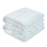 婴儿浴巾纱布棉柔吸水洗澡新生儿童毛巾被子宝宝盖毯夏季薄款J