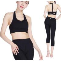 时尚新款户外运动瑜伽服女士瑜伽健身服运动背心带胸垫防震抹胸
