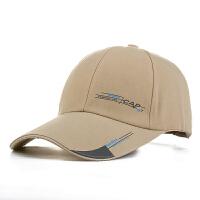 帽子男士春秋鸭舌帽潮加长帽檐棒球帽遮阳防晒女士钓鱼运动帽