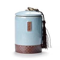 【空罐不含茶叶】密封茶叶罐陶瓷茶盒茶仓旅行储物罐普洱罐存茶罐茶具SN4162