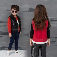 2女童4女宝5儿童马甲秋冬男童韩版百搭红色1-3岁男宝马甲黑色