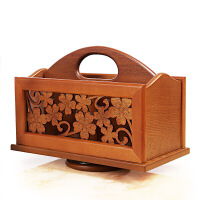 桌面木质遥控器收纳盒