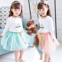 4宝宝纱裙6女宝秋裙2幼儿宝贝裙子女公主秋款1-3岁女童秋装套装潮