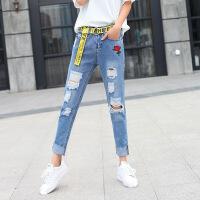 长裤2018年春季牛仔裤舒适潮流韩版气质修身显瘦简约 图片色