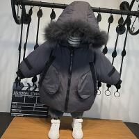 童装男童冬装洋气中小儿童棉衣冬季中长款宝宝棉袄潮