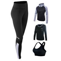 专业秋冬款长袖大码瑜伽服三四件运动套装女初学者健身衣修身显瘦