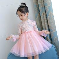 女童春装新款儿童连衣裙子洋气童装公主裙韩版中大童蓬蓬纱裙