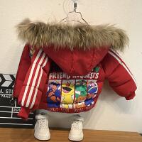 男童冬装洋气宝宝棉袄加绒外套中小儿童短款棉衣