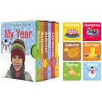 My Little Pocket Library My Year 我的迷你图书馆一年四季 英语启蒙认知单词6册盒装 英
