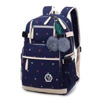 双肩包女韩版印花时尚新款学院风潮流大中学生书包旅行包背包 支持礼品卡支付