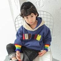 男童卫衣2017新款冬季韩版儿童连帽外套保暖上衣冬装加绒套头加厚