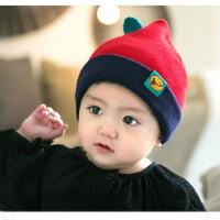 缕巷 MZ42婴儿帽儿童帽子秋冬套头帽水果卡通图案宝宝棉线帽子 毛线帽
