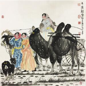 吴团良《大漠驼旅途》著名画家