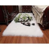北欧长毛绒床边地毯卧室客厅家用飘窗地垫房间仿羊毛满铺可爱圆形