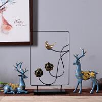 创意电视柜家居装饰工艺品客厅鹿摆件欧式酒柜玄关小摆设结婚礼物