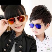 儿童太阳镜男女偏光镜炫彩蛤蟆镜反光墨镜潮男童太阳眼镜